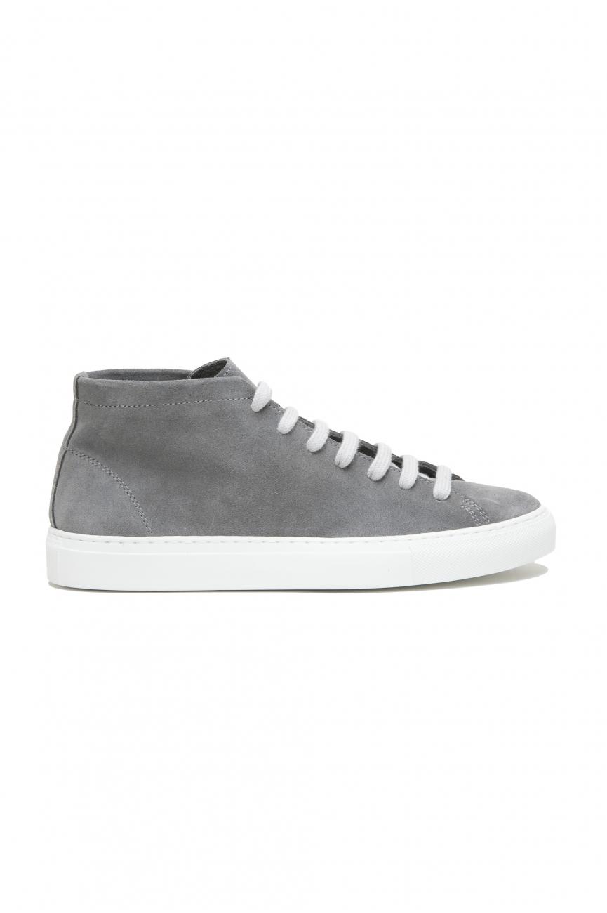 SBU 02969_2020AW Sneakers stringate alte in pelle scamosciata grigie 01