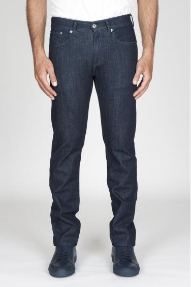 SBU - Strategic Business Unit - Jeans Tinto Indaco Stretch Denim Giapponese Lavato Blue