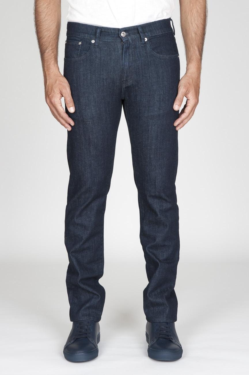 SBU - Strategic Business Unit - Original Indigo Dyed Japanese Stretch Denim Dark Blue Jeans