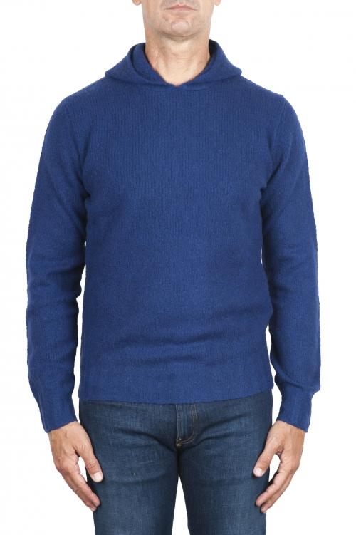 SBU 02978_2020AW ブルーカシミアとウール混のフード付きセーター 01