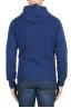SBU 02978_2020AW Pull à capuche bleu en cachemire et laine mélangés 05