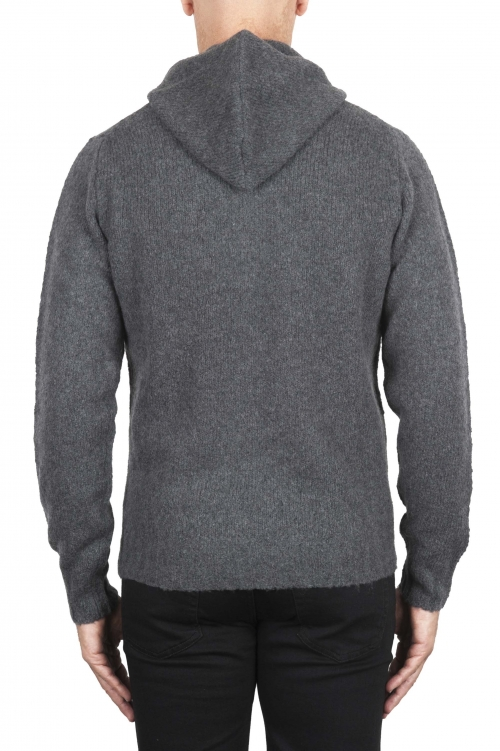 SBU 02979_2020AW Grey cashmere and wool blend hooded sweater 01