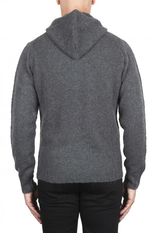 SBU 02979_2020AW Maglia con cappuccio in lana misto cashmere grigio 01