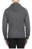 SBU 02979_2020AW Pull à capuche gris en cachemire et laine mélangés 05