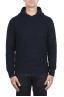 SBU 02980_2020AW Maglia con cappuccio in lana misto cashmere blu navy 01
