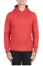 SBU 02981_2020AW Orange cashmere and wool blend hooded sweater 01