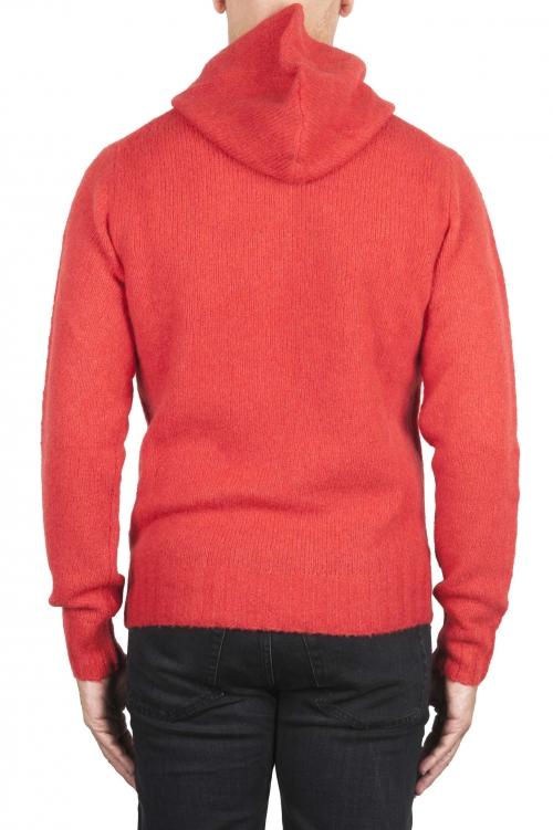 SBU 02981_2020AW Maglia con cappuccio in lana misto cashmere arancione 01