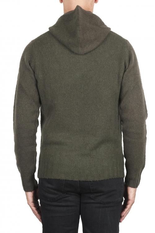 SBU 02982_2020AW グリーンカシミアとウール混のフード付きセーター 01