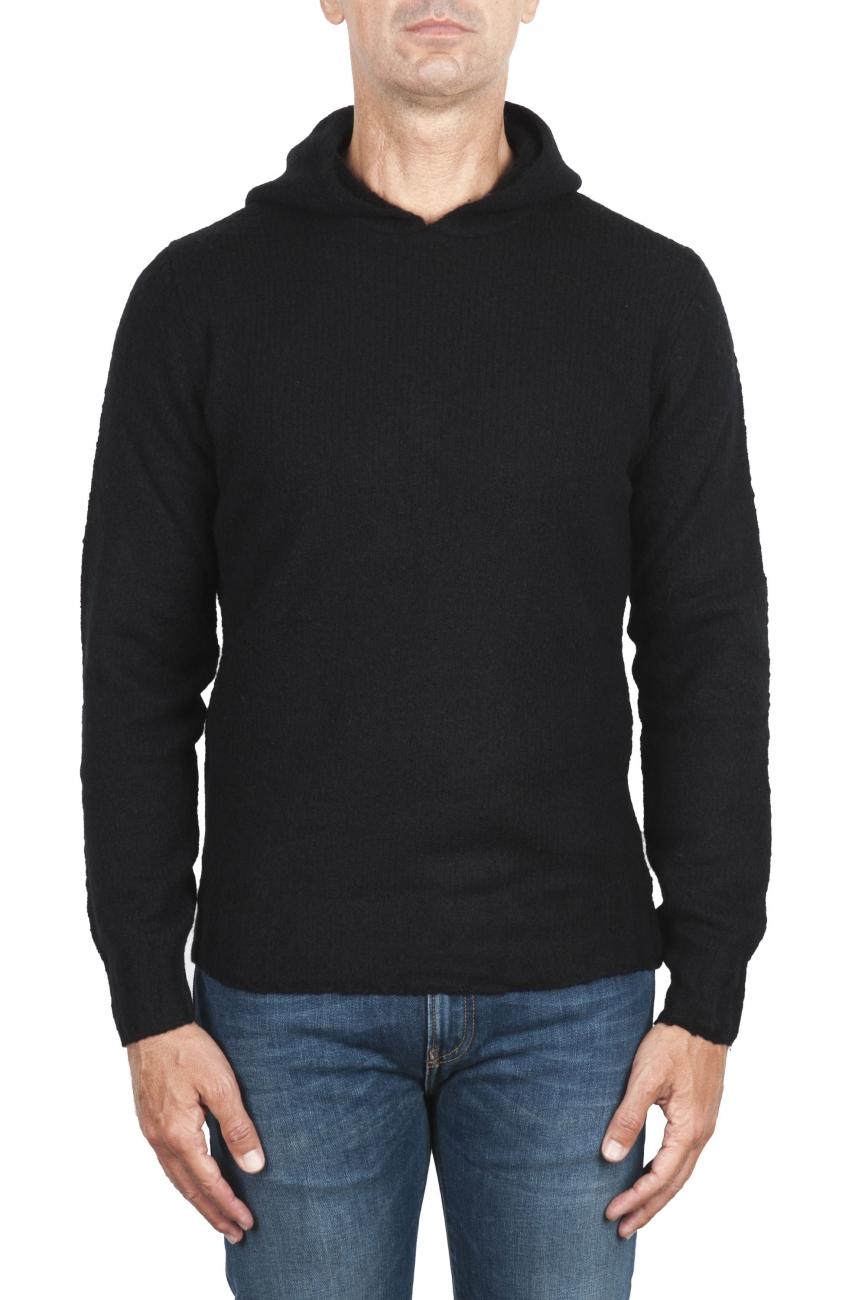 SBU 02983_2020AW Maglia con cappuccio in lana misto cashmere nero 01