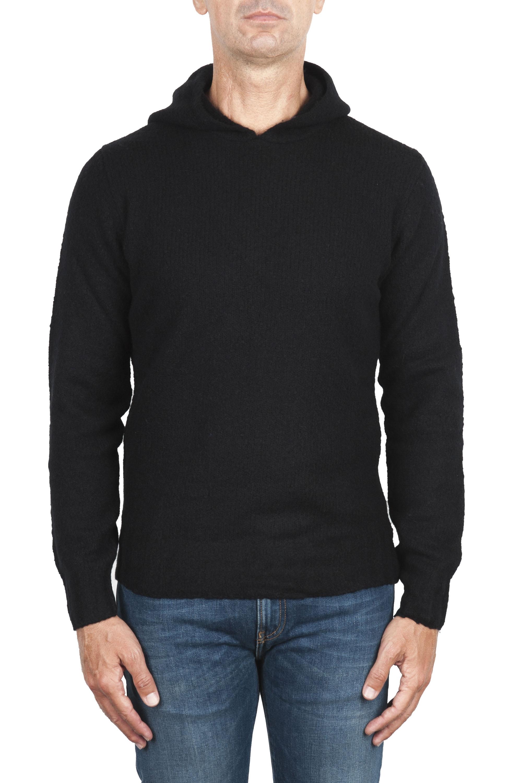SBU 02983_2020AW Jersey con capucha de mezcla de lana y cachemira negro 01