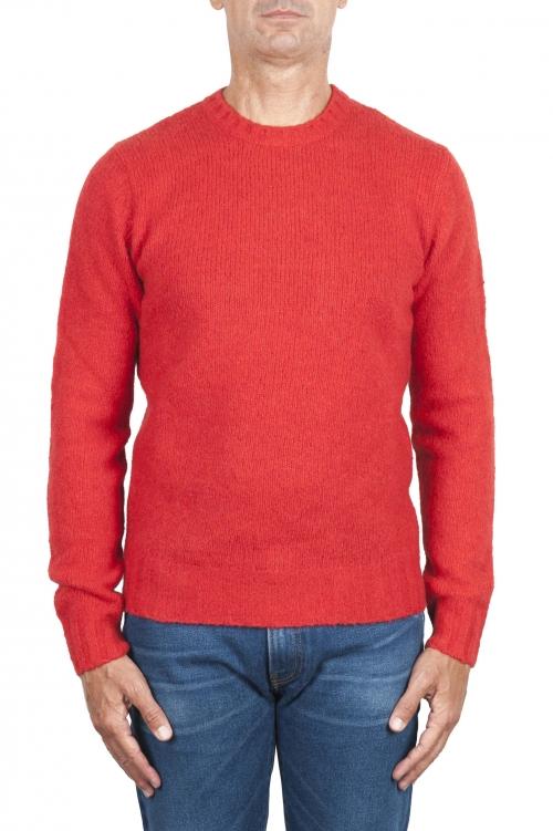 SBU 02984_2020AW Orange cashmere and wool blend crew neck sweater 01