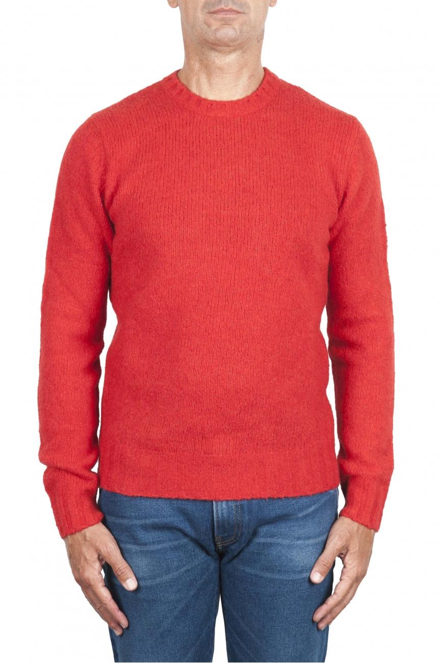 SBU 02984_2020AW Pull à col rond en cachemire et laine mélangés orange 01
