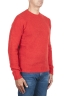 SBU 02984_2020AW Orange cashmere and wool blend crew neck sweater 02