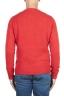 SBU 02984_2020AW Orange cashmere and wool blend crew neck sweater 05