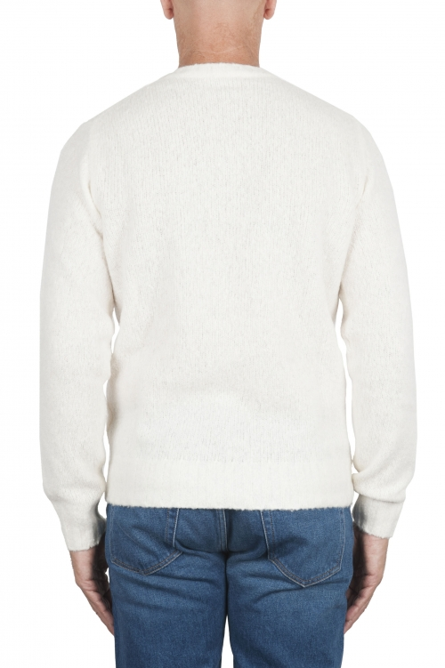 SBU 02985_2020AW White cashmere and wool blend crew neck sweater 01