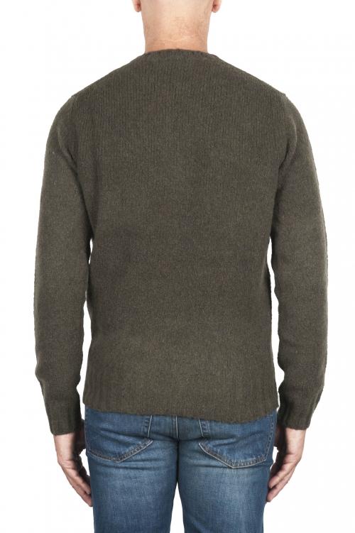 SBU 02986_2020AW Jersey verde de cachemir y mezcla de lana con cuello redondo 01