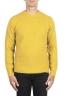 SBU 02987_2020AW Pull à col rond en cachemire et laine mélangés jaune 01