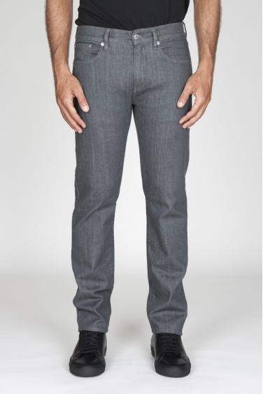 SBU - Strategic Business Unit - Jeans Giapponese Stretch Denim Tintura Naturale Lavato Grigio