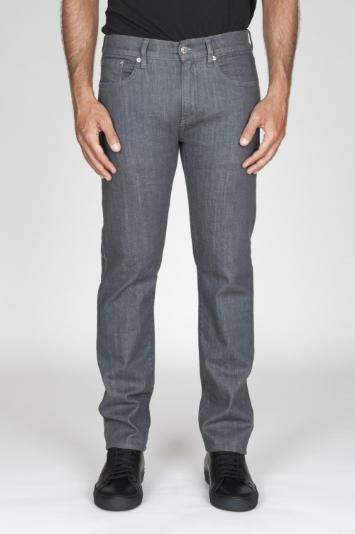 SBU - Strategic Business Unit - Jeans Giapponese Stretch Denim Tintura Naturale Lavato Grigio