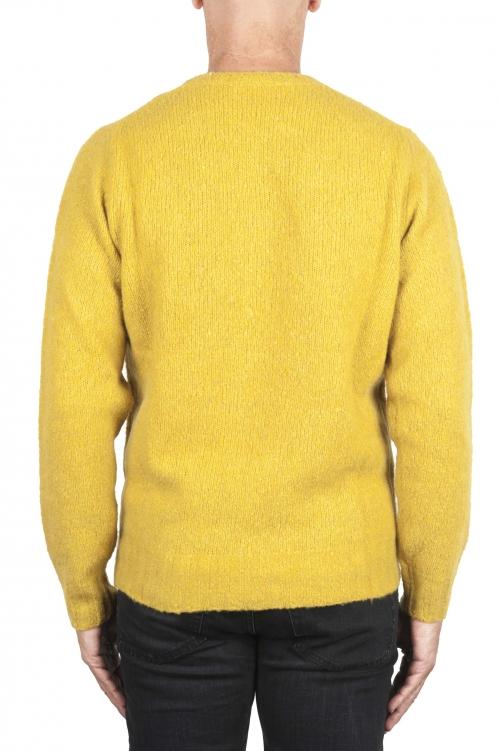 SBU 02987_2020AW Jersey amarillo de cachemir y mezcla de lana con cuello redondo 01
