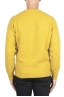 SBU 02987_2020AW Yellow cashmere and wool blend crew neck sweater 05