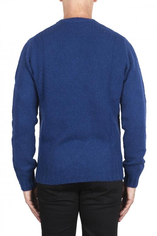 SBU 02988_2020AW Jersey azul de cachemir y mezcla de lana con cuello redondo 01