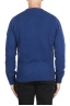 SBU 02988_2020AW Blue cashmere and wool blend crew neck sweater 05