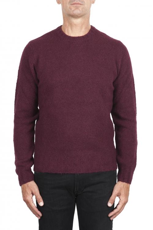 SBU 02989_2020AW Jersey rojo de cachemir y mezcla de lana con cuello redondo 01