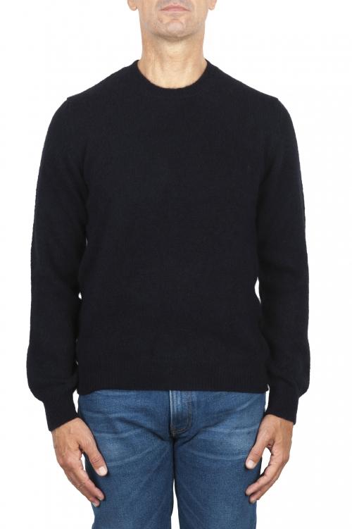 SBU 02990_2020AW Blue alpaca and wool blend crew neck sweater 01