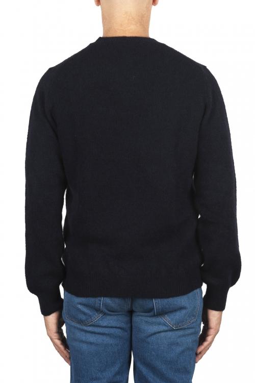 SBU 02990_2020AW Maglia girocollo in lana misto alpaca blu 01