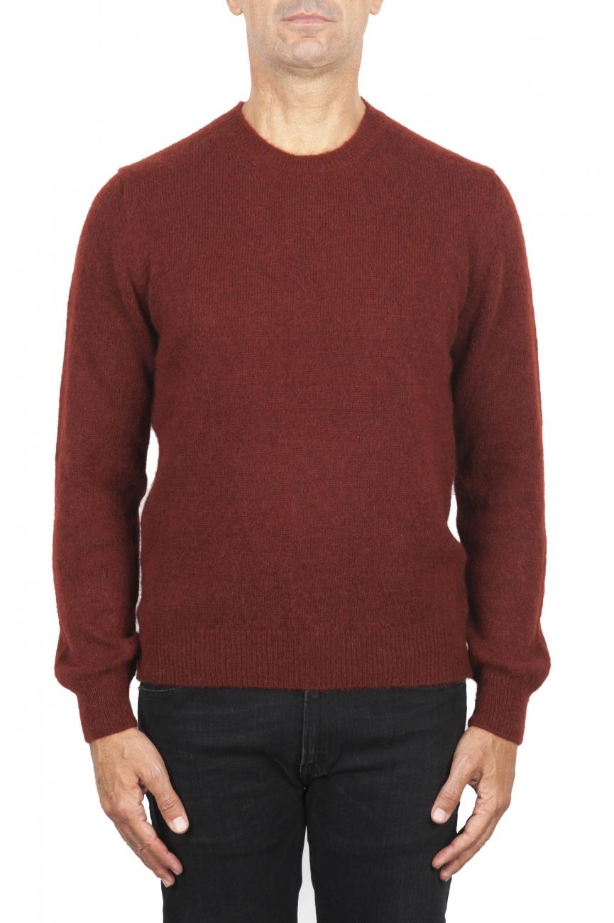 SBU 02991_2020AW Red alpaca and wool blend crew neck sweater 01