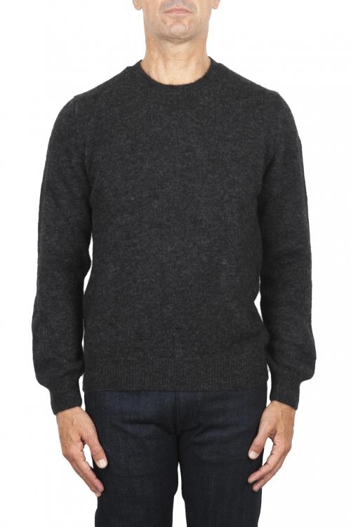 SBU 02992_2020AW グレーのアルパカとウール混のクルーネックセーター 01