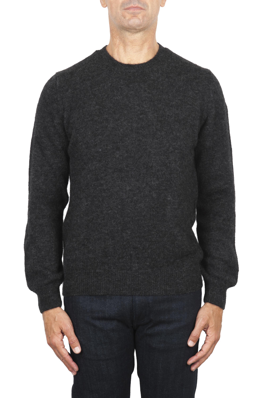 SBU 02992_2020AW Maglia girocollo in lana misto alpaca grigio 01