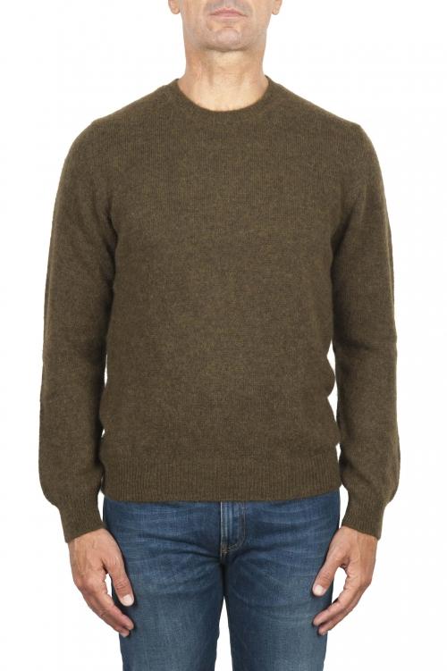 SBU 02993_2020AW Jersey de cuello redondo en mezcla de lana y alpaca verde 01