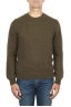 SBU 02993_2020AW Green alpaca and wool blend crew neck sweater 01