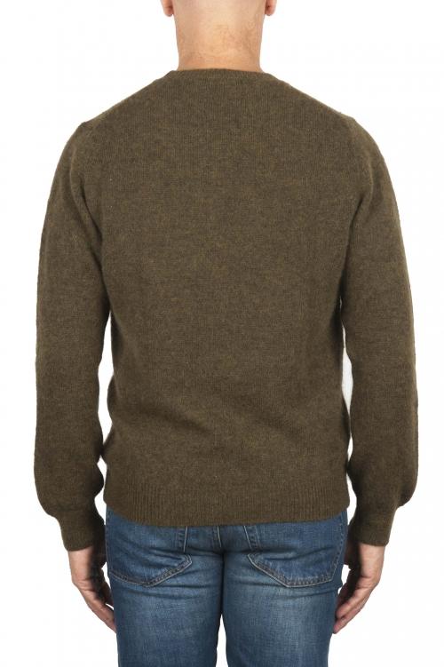 SBU 02993_2020AW Maglia girocollo in lana misto alpaca verde 01