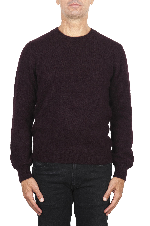 SBU 02994_2020AW Purple alpaca and wool blend crew neck sweater 01