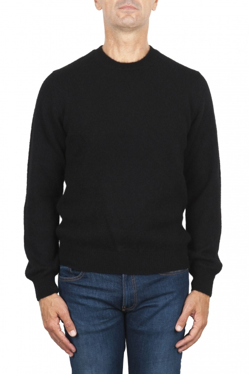 SBU 02995_2020AW Maglia girocollo in lana misto alpaca nero 01