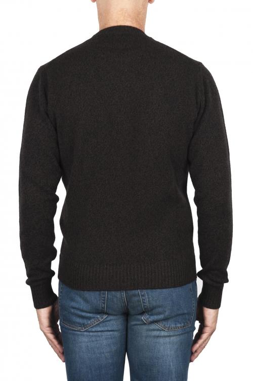 SBU 02996_2020AW メランジブラウンウールとカシミア混のクルーネックセーター 01