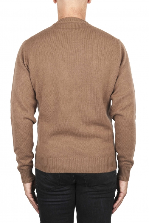 SBU 02997_2020AW Jersey de cuello redondo en mezcla de lana y cachemir marrón 01