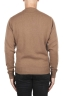 SBU 02997_2020AW Brown wool and cashmere blend crew neck sweater 05