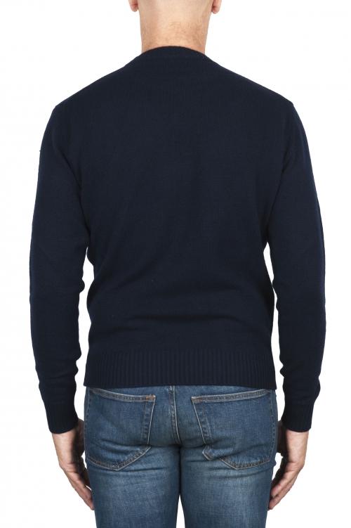 SBU 02998_2020AW Maglia girocollo in lana misto cashmere blu navy 01