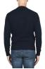 SBU 02998_2020AW Jersey de cuello redondo en mezcla de lana y cachemir azul marino 05