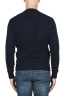 SBU 02998_2020AW Navy blue wool and cashmere blend crew neck sweater 05