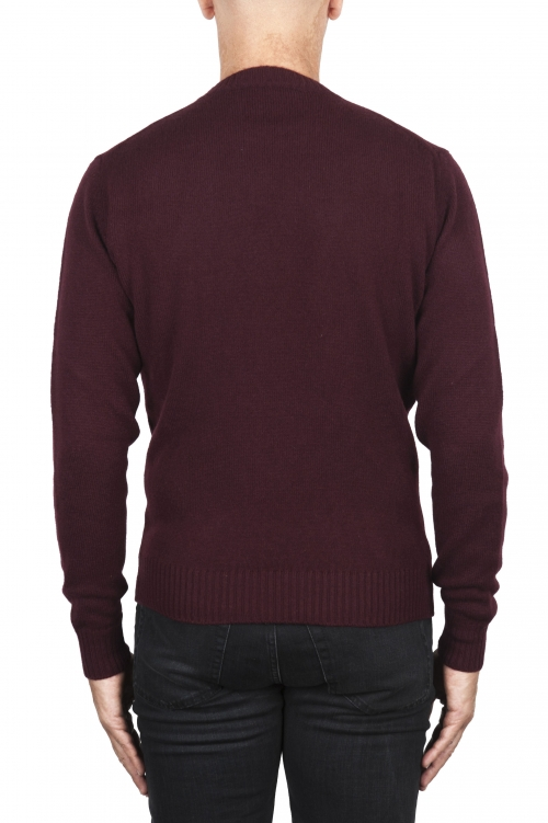 SBU 02999_2020AW Red wool and cashmere blend crew neck sweater 01