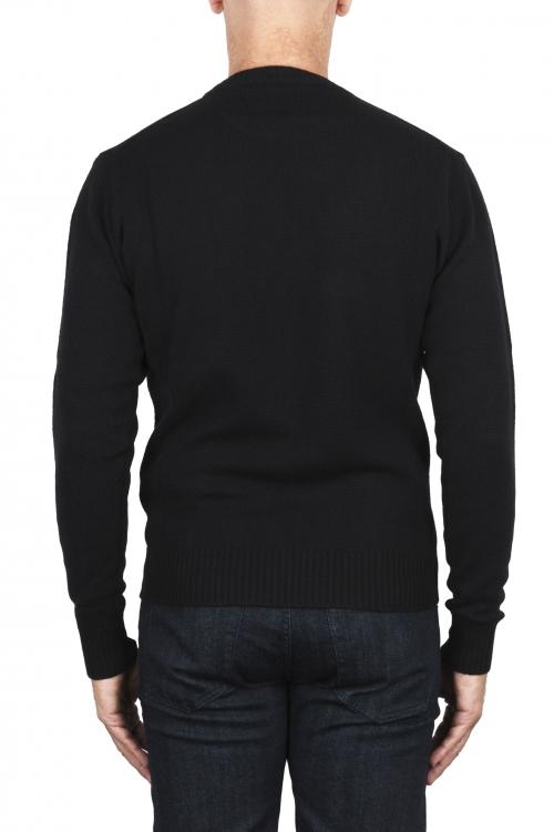 SBU 03000_2020AW Maglia girocollo in lana misto cashmere nero 01