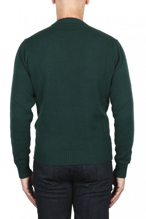 SBU 03001_2020AW Maglia girocollo in lana misto cashmere verde 01