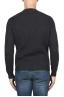 SBU 03002_2020AW Grey ribbed knit crew neck sweater 05