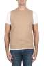 SBU 03005_2020AW Camel round neck merino wool and cashmere sweater vest 01