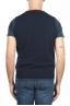SBU 03006_2020AW Blue round neck merino wool and cashmere sweater vest 05